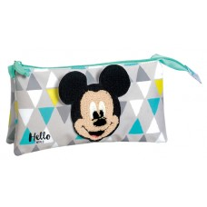 Flat Pencil Case Hello Mickey