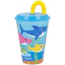 Baby Shark Tumbler with Straw