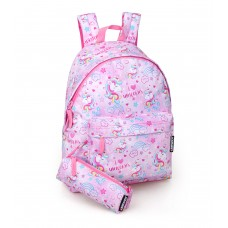 Unicorn backpack with pencil case