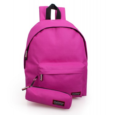 Backpack with pencil case Magenta