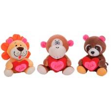 Lion-Raccoon-Monkey-Bear 18 cm