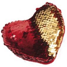 Reversible Sequin Heart 10 cm