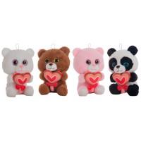 Heart Bear 26cm Assorted