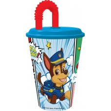 Tumbler with Straw Paw Patrol comic