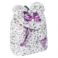 Minnie Mouse furry Sherpa backpack 25cm