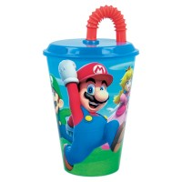 Super Mario Tumbler with Straw