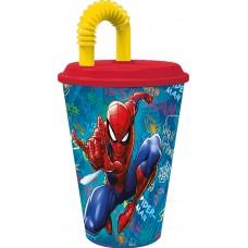 Tumbler with Straw Spiderman Graffiti