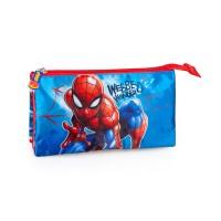 Spiderman triple pencil case