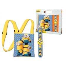 Minions shoulder bag and bracelet set