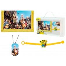 Minions wallet,bracelet and pendant