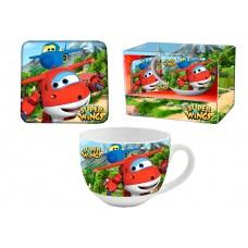 Super Wings mug and coaster set