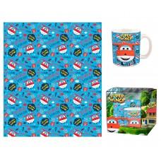 Super Wings mug and blanket