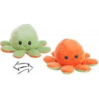 Reversible Octopus Plush Toy 24cm green-orange
