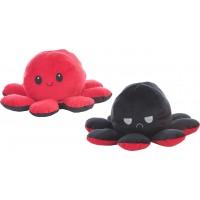 Reversible Octopus Plush Toy 36cm red-black