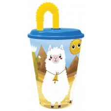 Tumbler with Straw Llamas