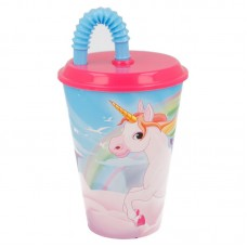 Tumbler with Straw Unicorns